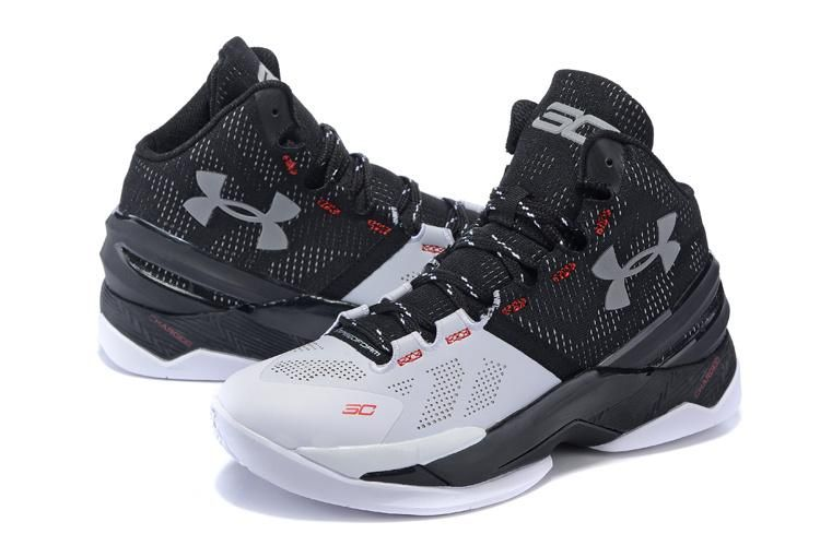 94bb958959be Under Armour Charged™ Anafoam SC30 II High Basketball Shoes Black White Red