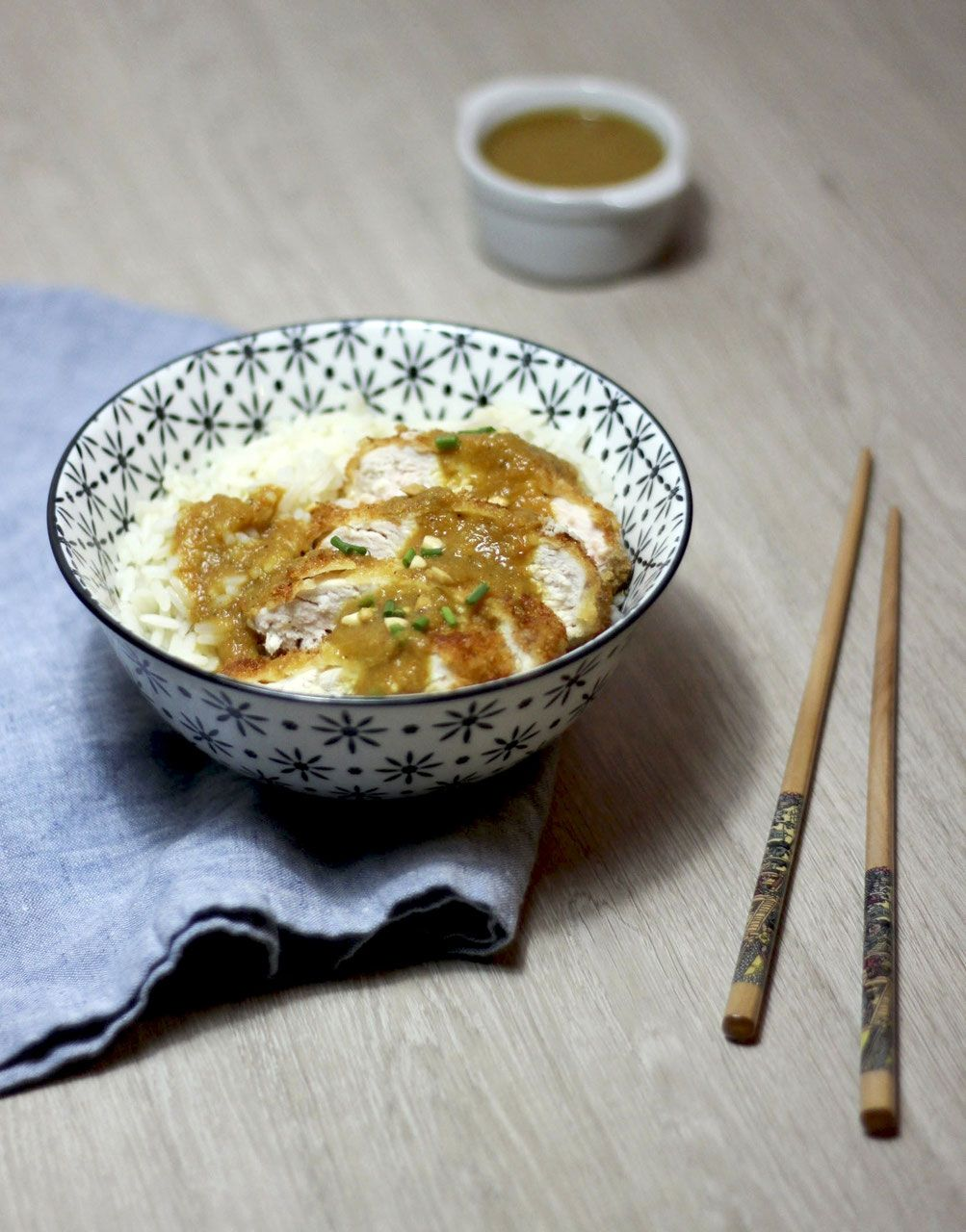 Curry japonais et poulet pané