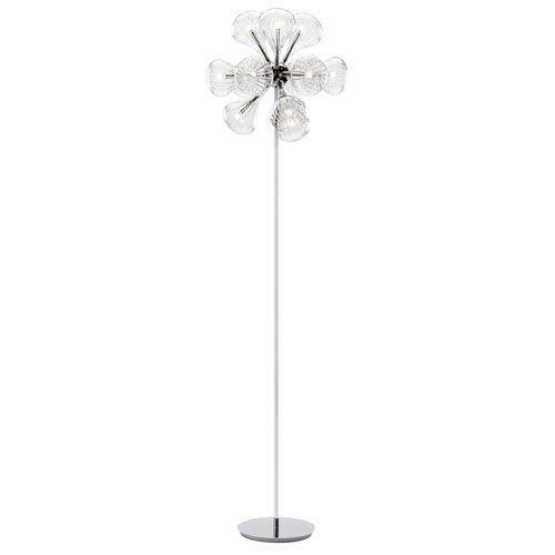 Tourine SIlver 12-Light LED Floor Lamp