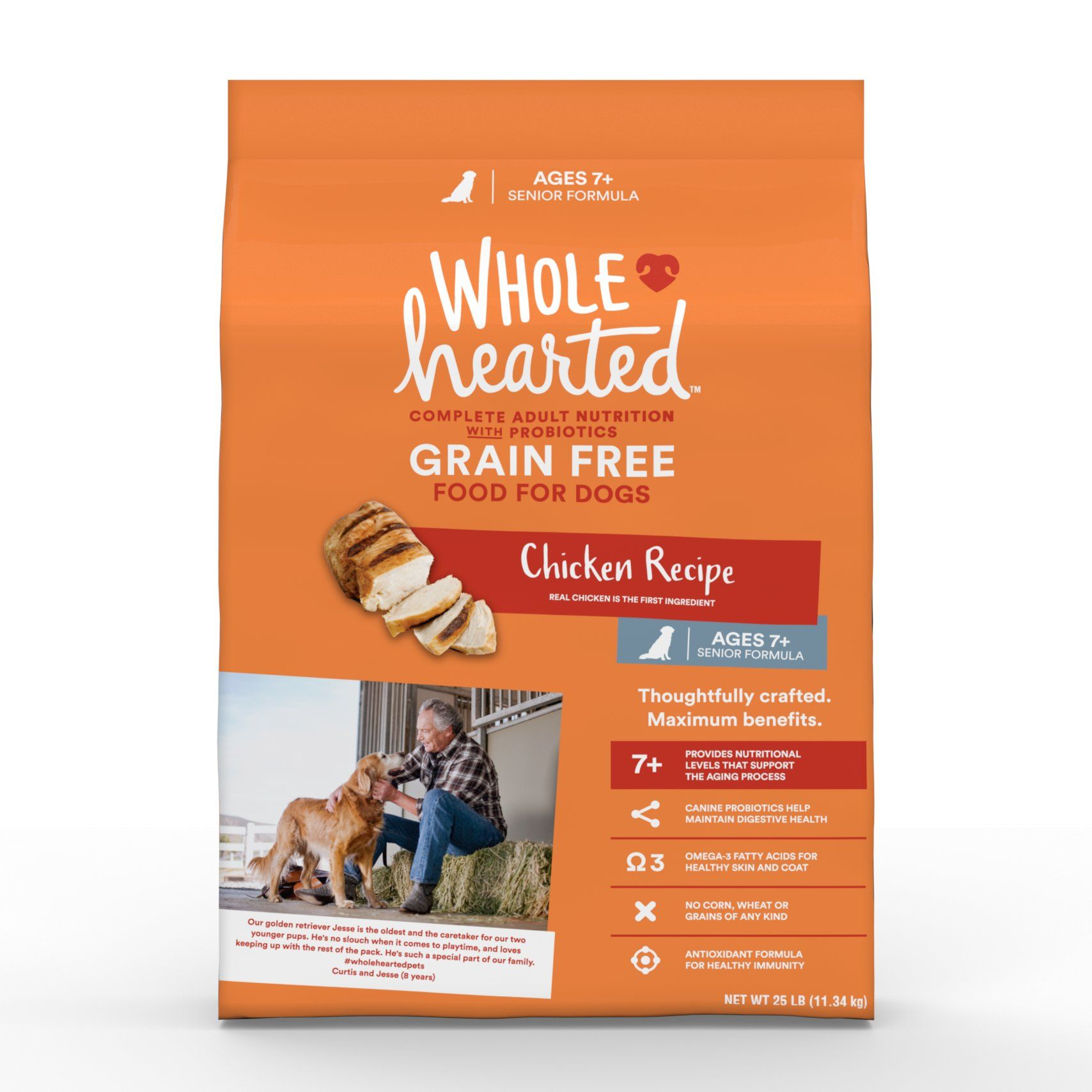 Wholehearted Grain Free Senior Chicken Recipe Dry Dog Food 25 Lbs