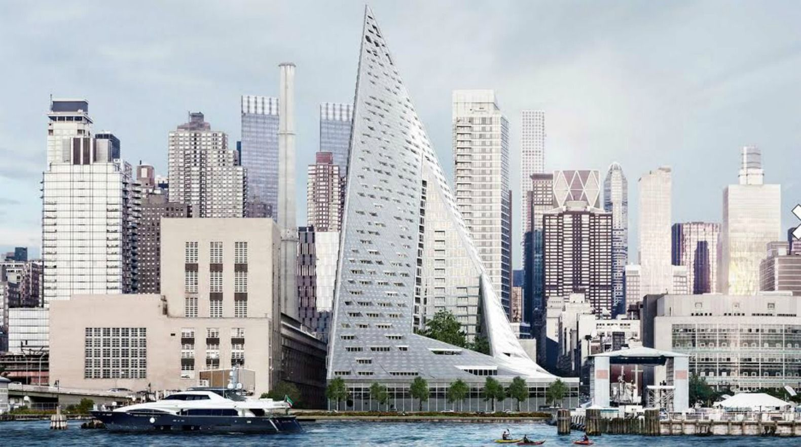 VIA 57WEST: BIG's distorted pyramid building is nearly complete | Pyramid  building, Architecture, New york