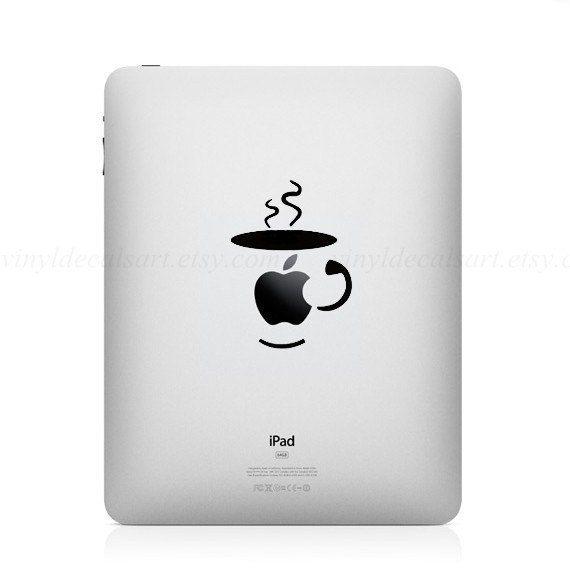 Coffe iPad Sticker Decal For iPad iPad2 The New iPad iPad3 iPad HD