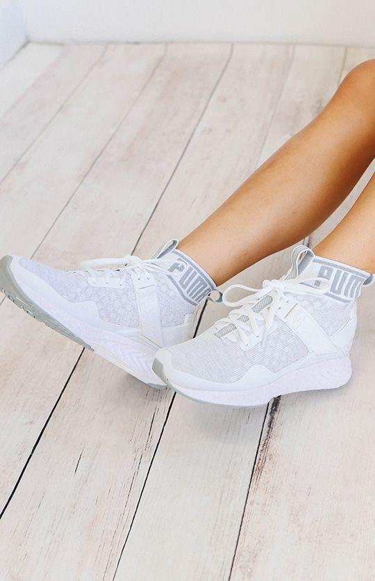 online store 4b407 6fde1 Puma Ignite Evoknit Womens Sneakers - White/Vaporous Grey ...