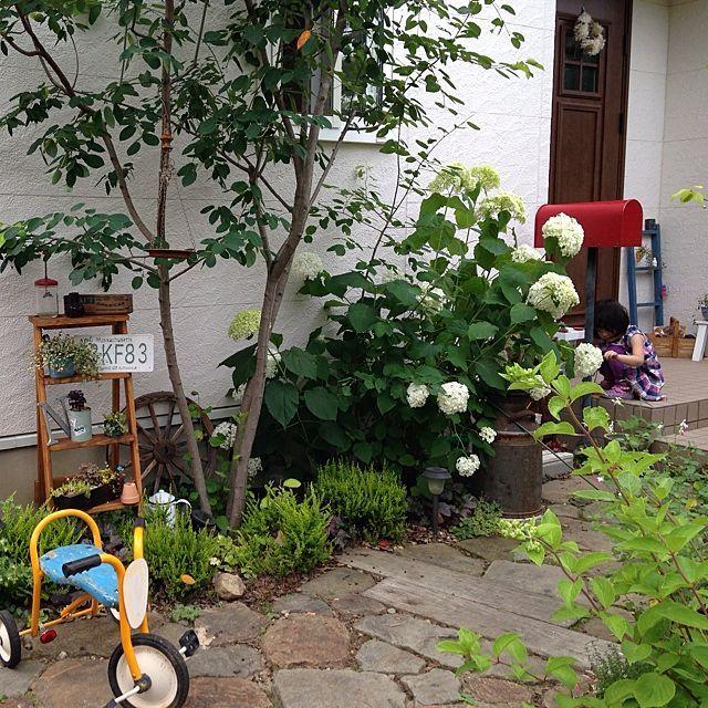 玄関 入り口 庭 ガーデニング ラダーdiy ナンバープレート などのインテリア実例 2014 07 03 13 41 51 Roomclip ルームクリップ 庭 ガーデニング ガーデン デザイン