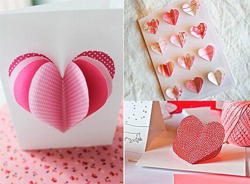 Бумажные сердечки своими руками 698