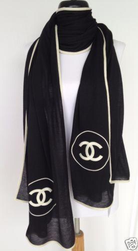 a1d83e98159 2016 chanel top black white cc cashmere dress jacket scarf wrap new ...