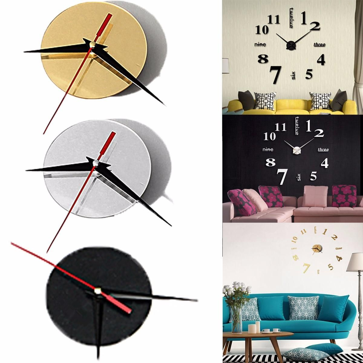 Large Quartz Wall Clock Movement Diy Hands Mechanism Repair Parts Tool Kit Smart Home From Consumer Electronics On Banggood Com In 2020 Diy Clock Wall Wall Clock Sticker Wall Clock