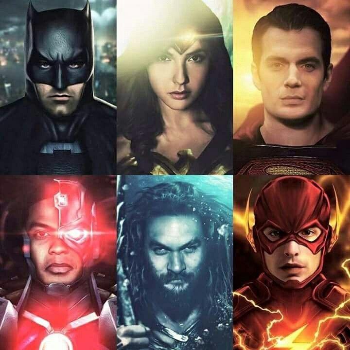 Justice League Cast Batman Wonder Woman Superman Cyborg Aquaman And The Flash Digitalentertainmentreview Com Marvel Arte