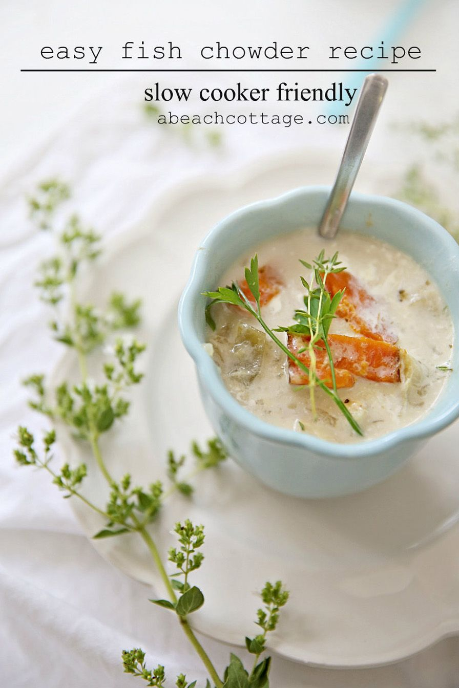 Recipe fish chowder crockpot slow cooker friendly fish for Easy fish chowder