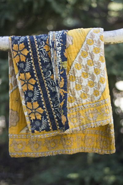 Flutter Kantha Throw