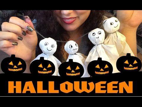 Halloween auf Youtube | Süße Geister ganz einfach selber basteln | Tag 3 - YouTube