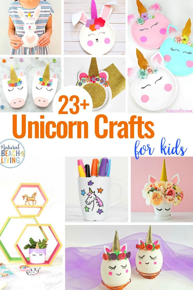 23+ Unicorn Crafts for Kids - Natural Beach Living #unicorncrafts