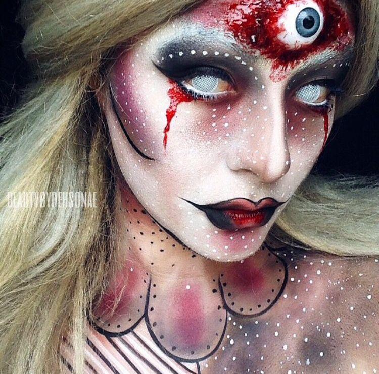 Third eye Halloween makeup
