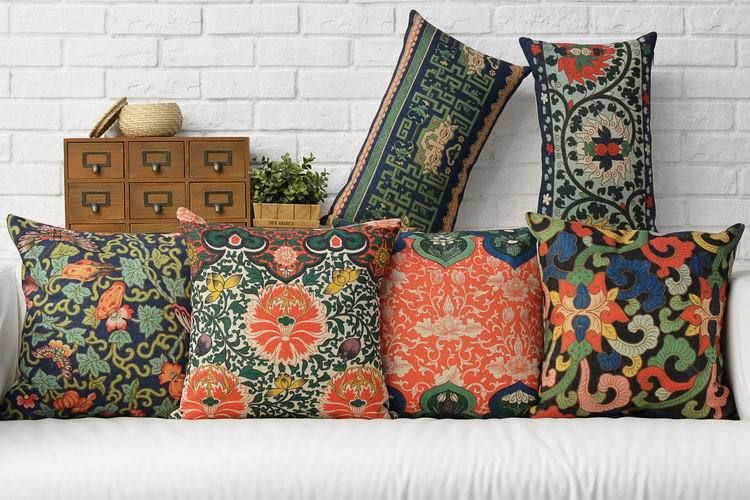 Free shipping retro ethnic style cushions home decor modern new chinese style chair cushion stylish and