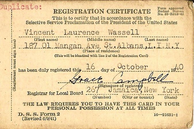 The Selective Service Act required all men between the ages of 21 - selective service registration form