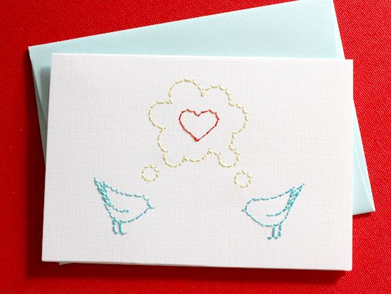Love birds from stitched a boutique greeting card company love birds from stitched a boutique greeting card company specializing in embroidered greeting cards and m4hsunfo