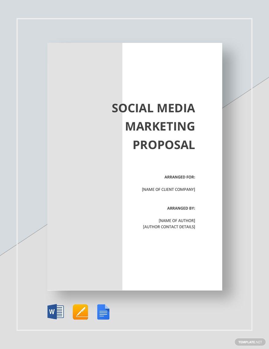 Social Media Proposal Template Free Pdf Google Docs Word Apple Pages Template Net Social Media Strategy Template Marketing Proposal Proposal Templates