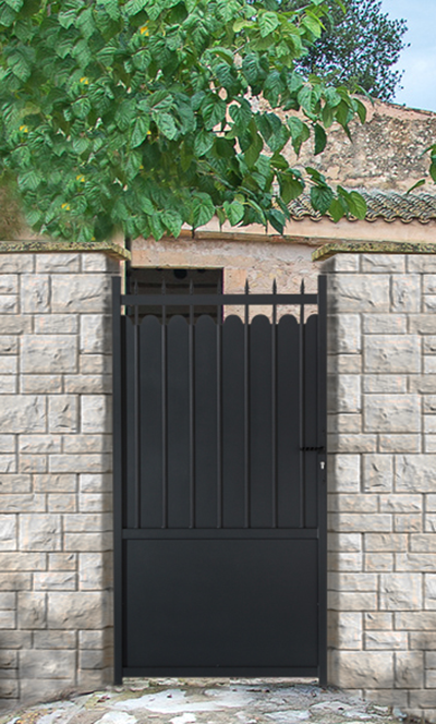 Portail portillon cl ture aluminium adana roy for Portail exterieur sur mesure