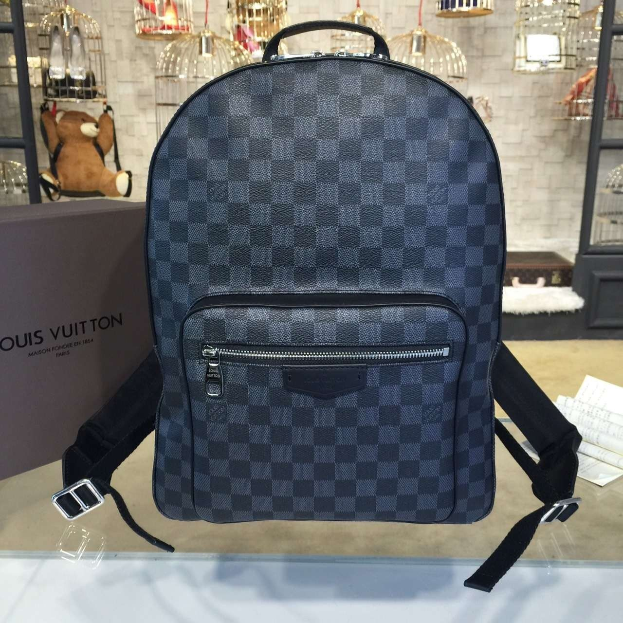 54b475038288 Louis Vuitton Josh Backpack Damier Canvas Macassar Fall Winter 2016  Collection M41530 - My Luxe Fashions