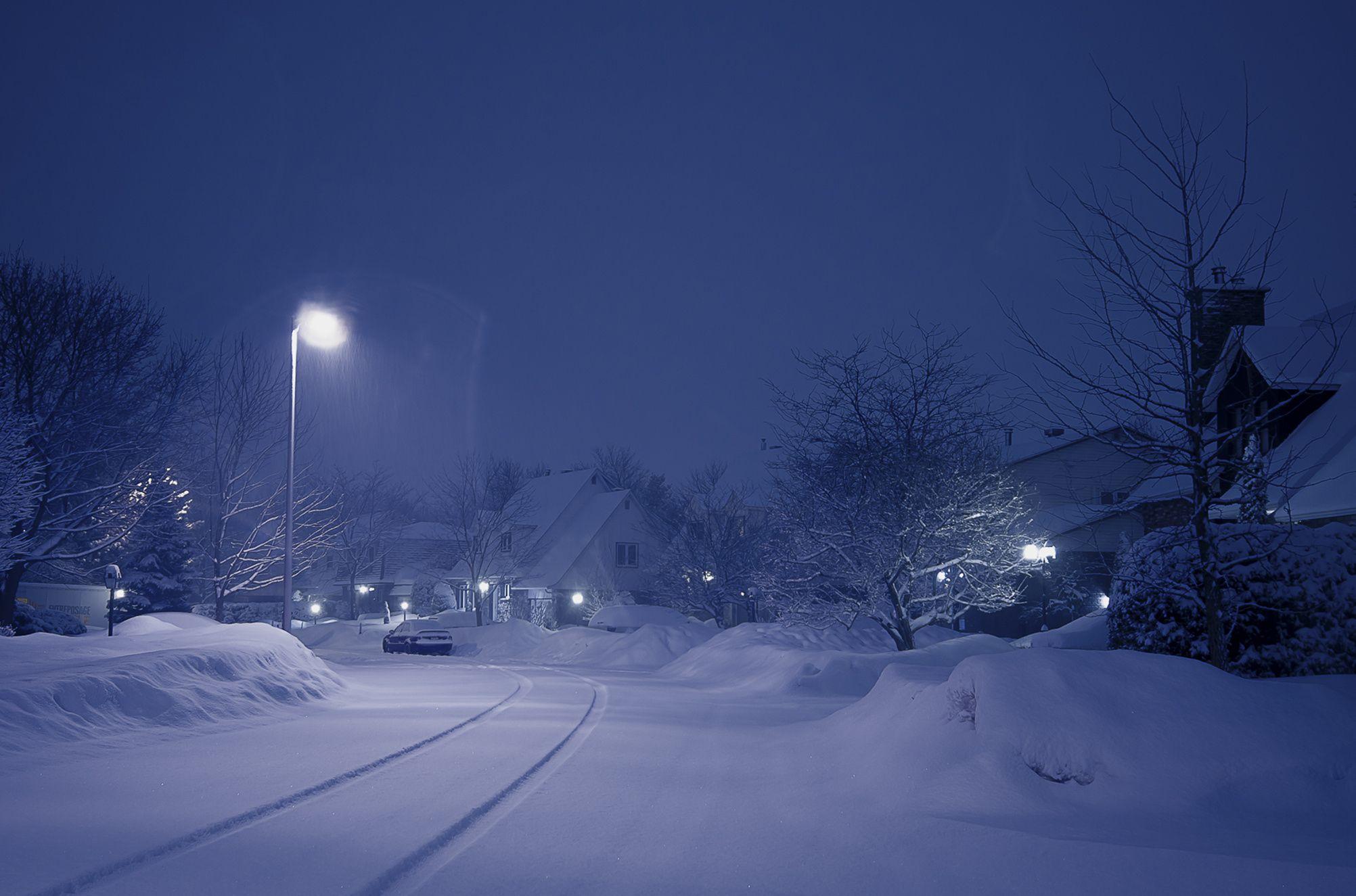 3:00 am la tempête commence... - Longueuil , Québec...début de tempête en Mars 2015