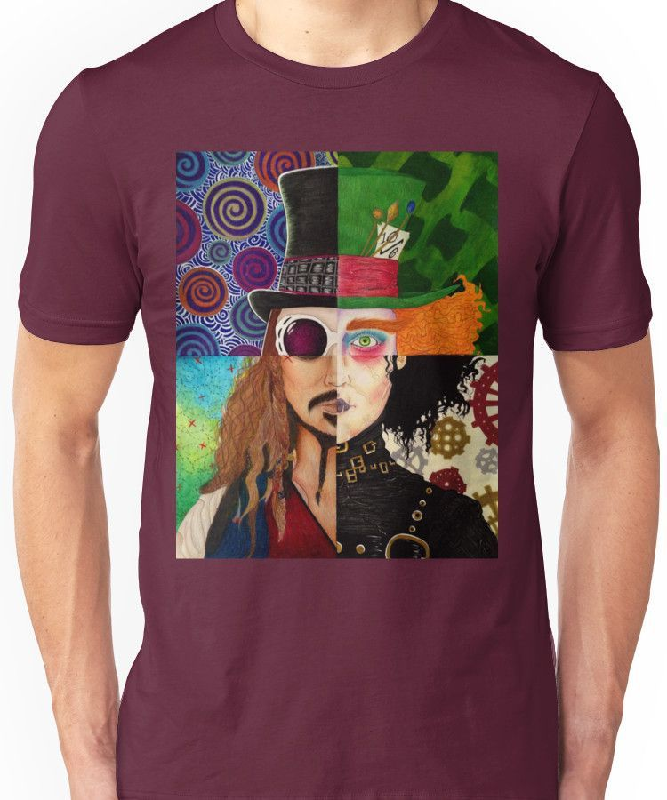 Johnny Depp Character Collage Unisex T Shirt Products Johnny