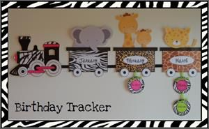 Update SafariJungle Birthday Train Bulletin board Daycare