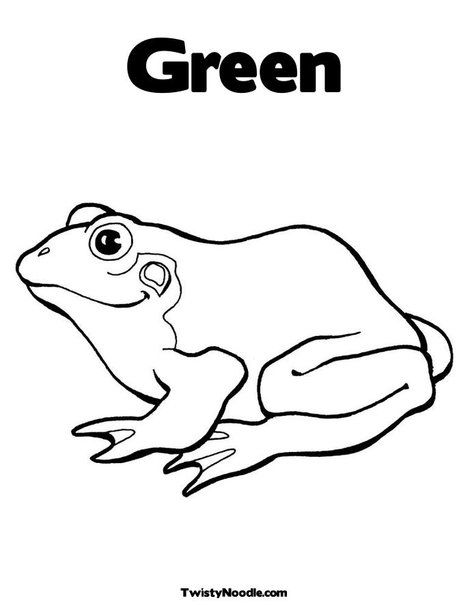 Green Coloring Page From Twistynoodle Com Frog Coloring Pages
