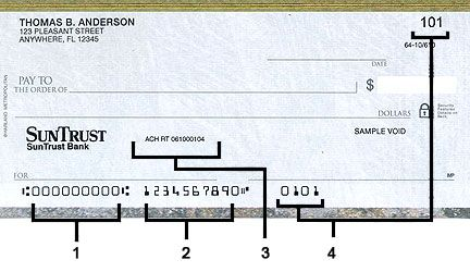 Check Routing Number | SunTrust Personal Banking | Financial