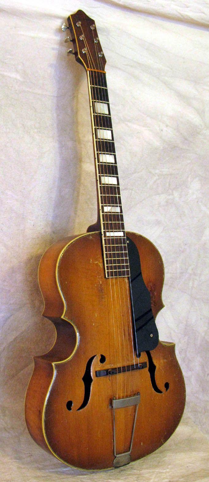 C1936 Sovereign Cello Guitara Very Rare Top Of The Line Archtop