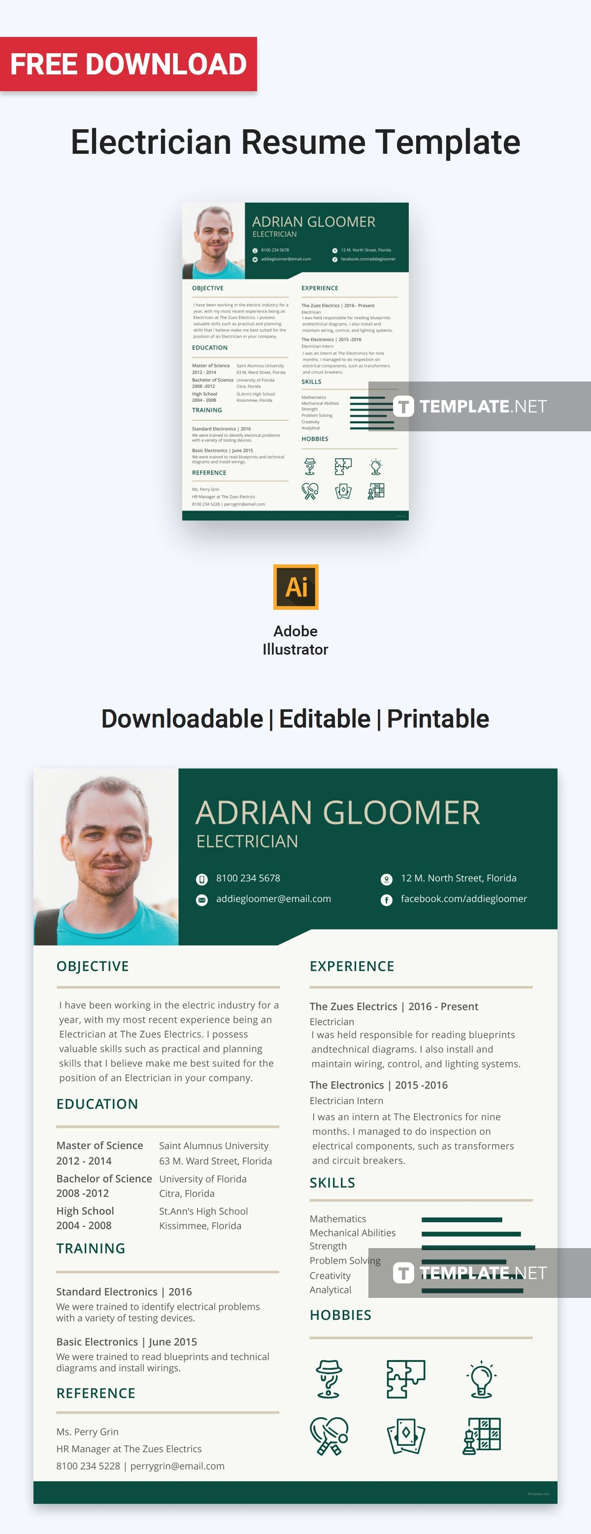 free electrician resume resume, design template office manager bullet points best career objective for curriculum vitae examples pdf