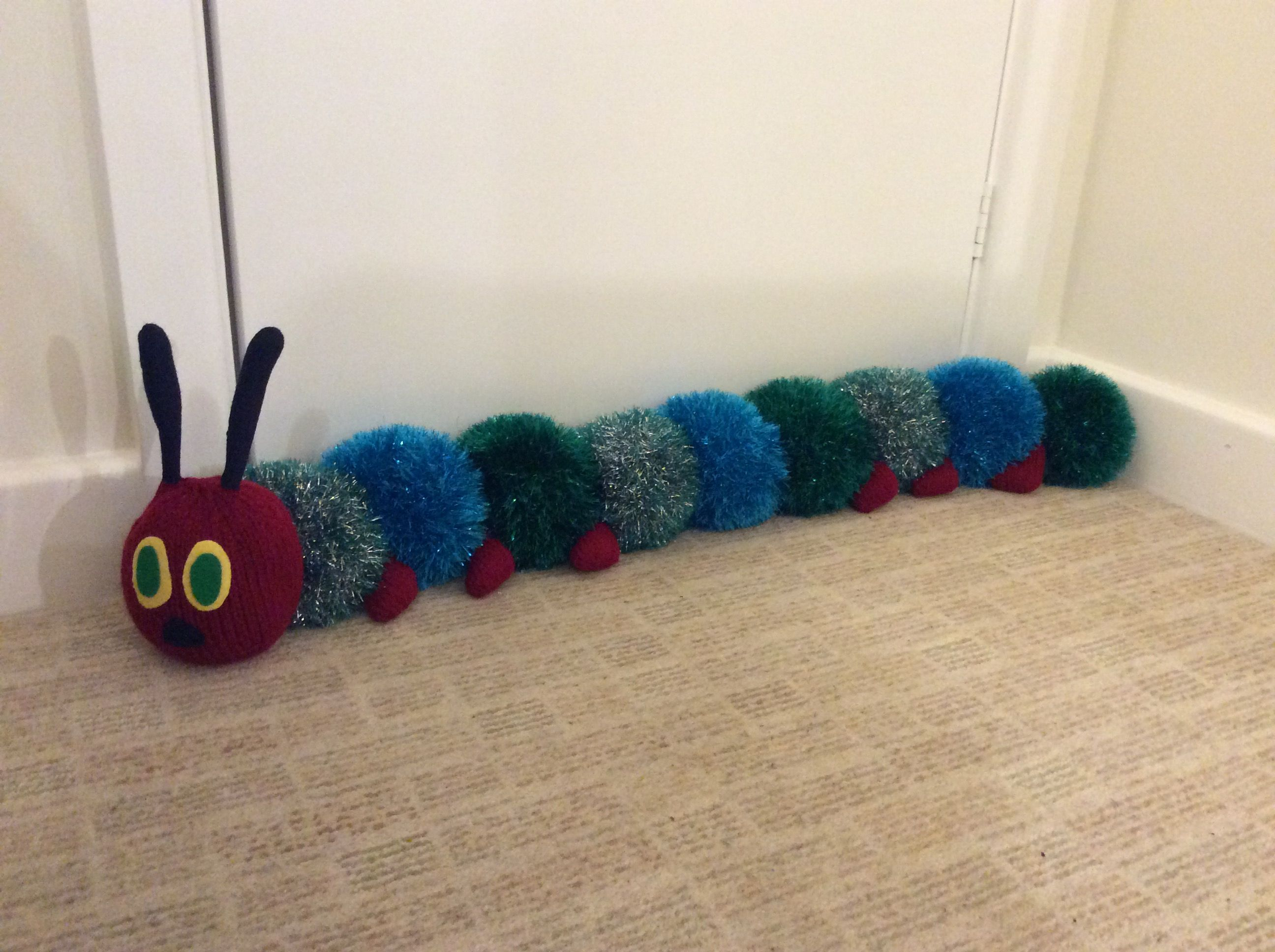 hungry Caterpillar draught excluder, adapted King Cole ...