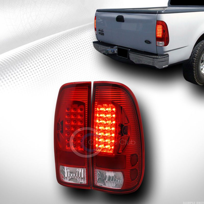 Red Clear Led Tail Lights Lamps Aw 1997 2003 Ford F150 1999 2007 F250 Styleside Led Tail Lights F150 Ford F150