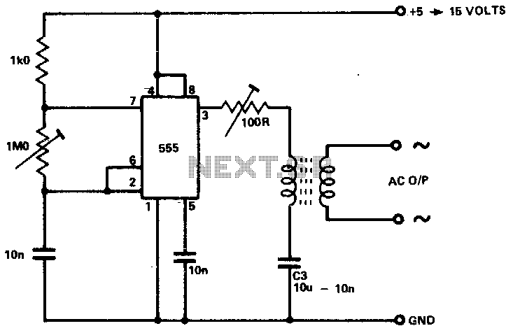 inverter as high voltage low current source