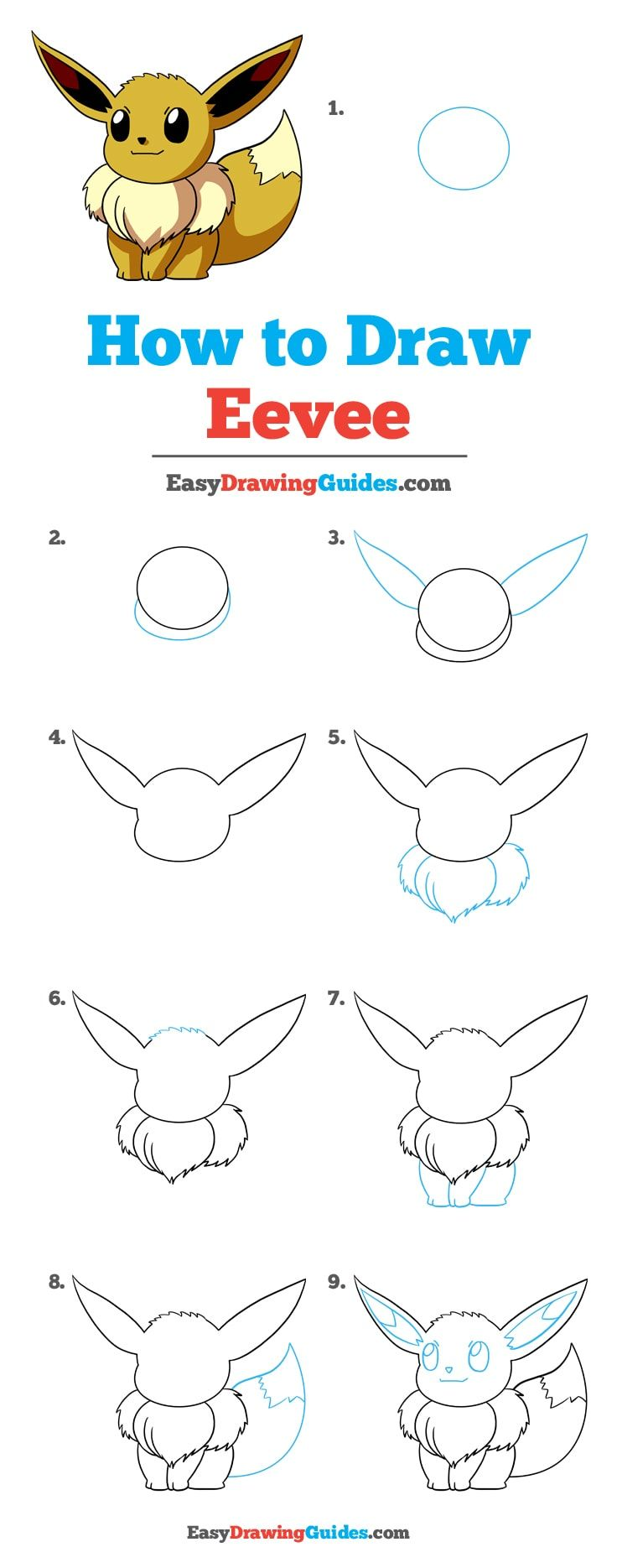 Photo of How to Draw Eevee from Pokémon- Really Easy Drawing Tutorial