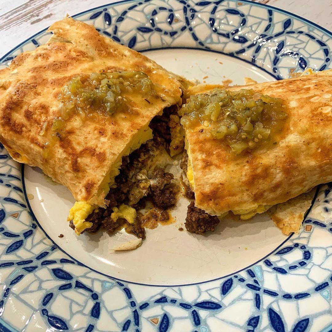 Photo of Keto breakfast burrito on the menu this Saturday morning!! I…