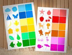 Игра для восприятия оттенков цветов для малышей