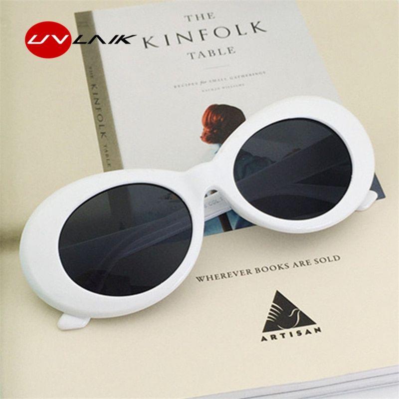 604eea298f2c UVLAIK Clout Goggles Sunglasses Women NIRVANA Kurt Cobain Glassess Female  Male UV400 Sun Glasses Womens Men Fashion Oval Glasse