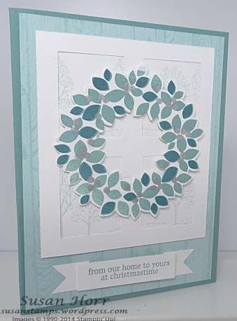 Wondrous Wreath, Lovely As A Tree, Christmas Card, Stampin Up, susanstamps.wordpress.com