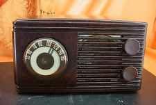 Vintage 1948 o Meissner 571 Marrom Baquelite Rádio De Tubo Capa ~ Raro Marca, rapazes! ~