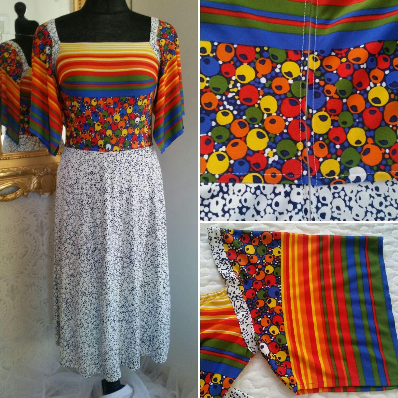 881f058d15a2 såld) Färgstark klänning 70-tal | Vintage clothing vintagekläder ...