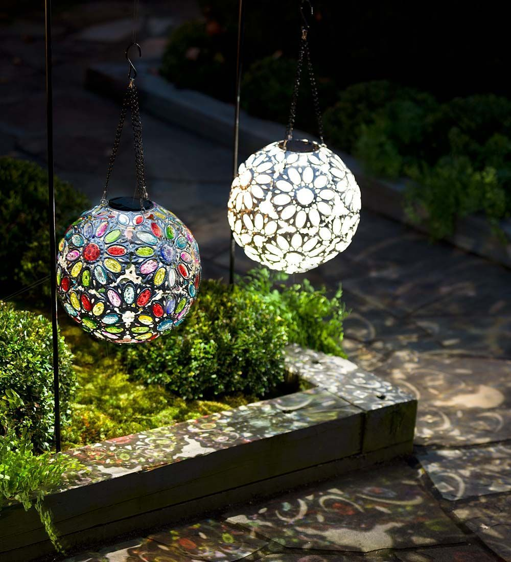 hanging solar patio lights. Hanging Solar Jewel Ball | Lighting Is A Dazzling Accent That Will Become The Crown Of Your Yard And Garden. Patio Lights