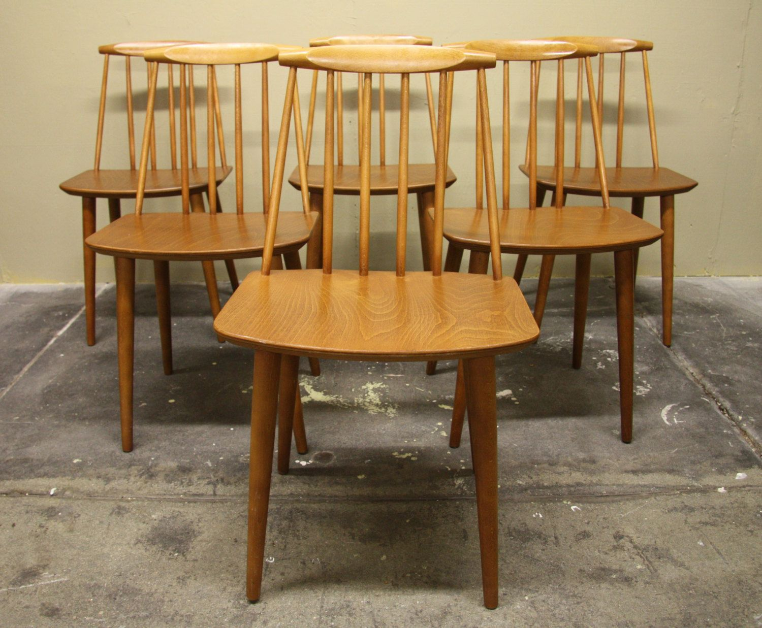 80fcdcba047a2 Danish Mobler Folke Palsson Spindle Back Chairs Set of 6 by  WrightFindsinMCM on Etsy