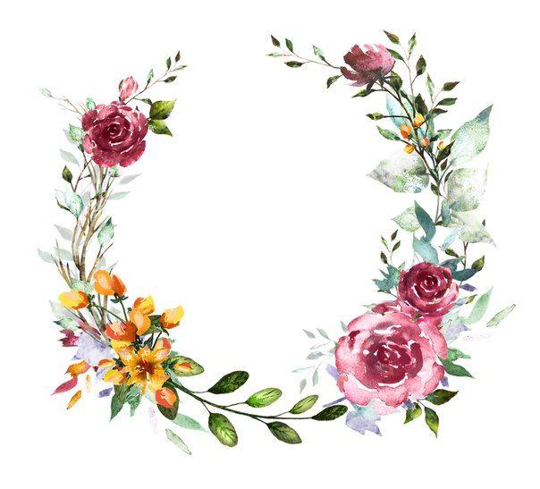 Картинки (разное) - 2 | Акварельні квіти, Запрошення і Фони