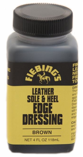 226606a474b Fiebings Sole And Heel Edge Dressing Brown 4 OZ | Leather Care and ...