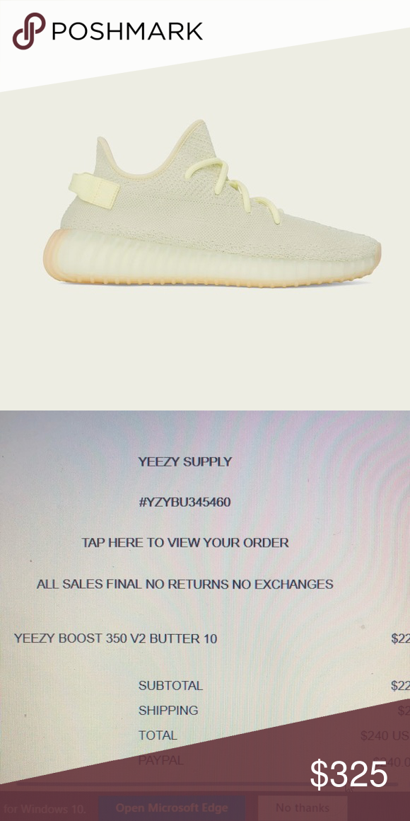 3d0beb2952a61 Adidas Yeezy boost 350 v2 Butter Yeezy boost 350 v2 Butter Yeezy Supple  Size 10