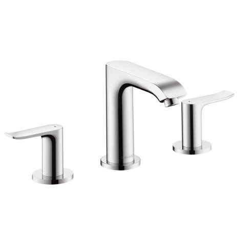 View the Hansgrohe 31083 Metris Bathroom Faucet Widespread Faucet with Lever Handles - Free Metal Pop-Up Drain Assembly with purchase at Build.com.