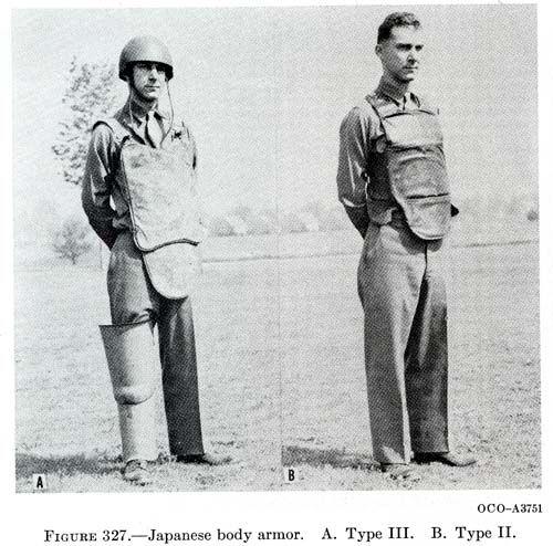 Captured Japanese Body Armor Type Iii And Type Ii Body Armor