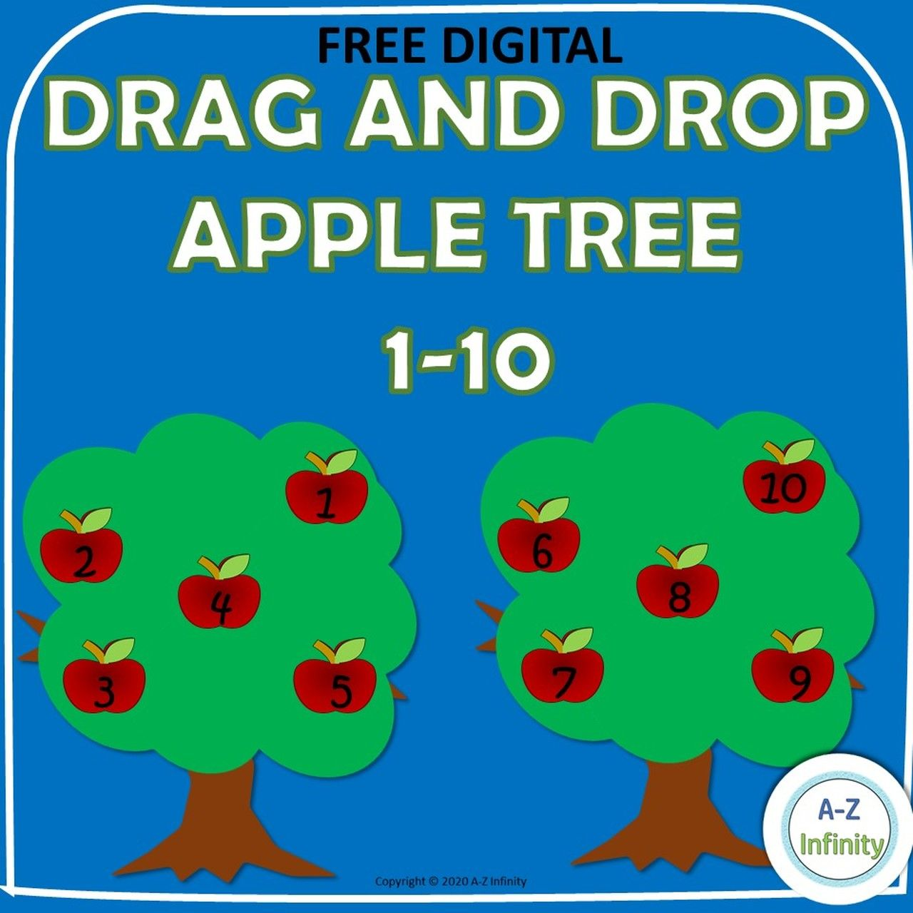 Freebie Drag And Drop 1 10 Apple Tree In
