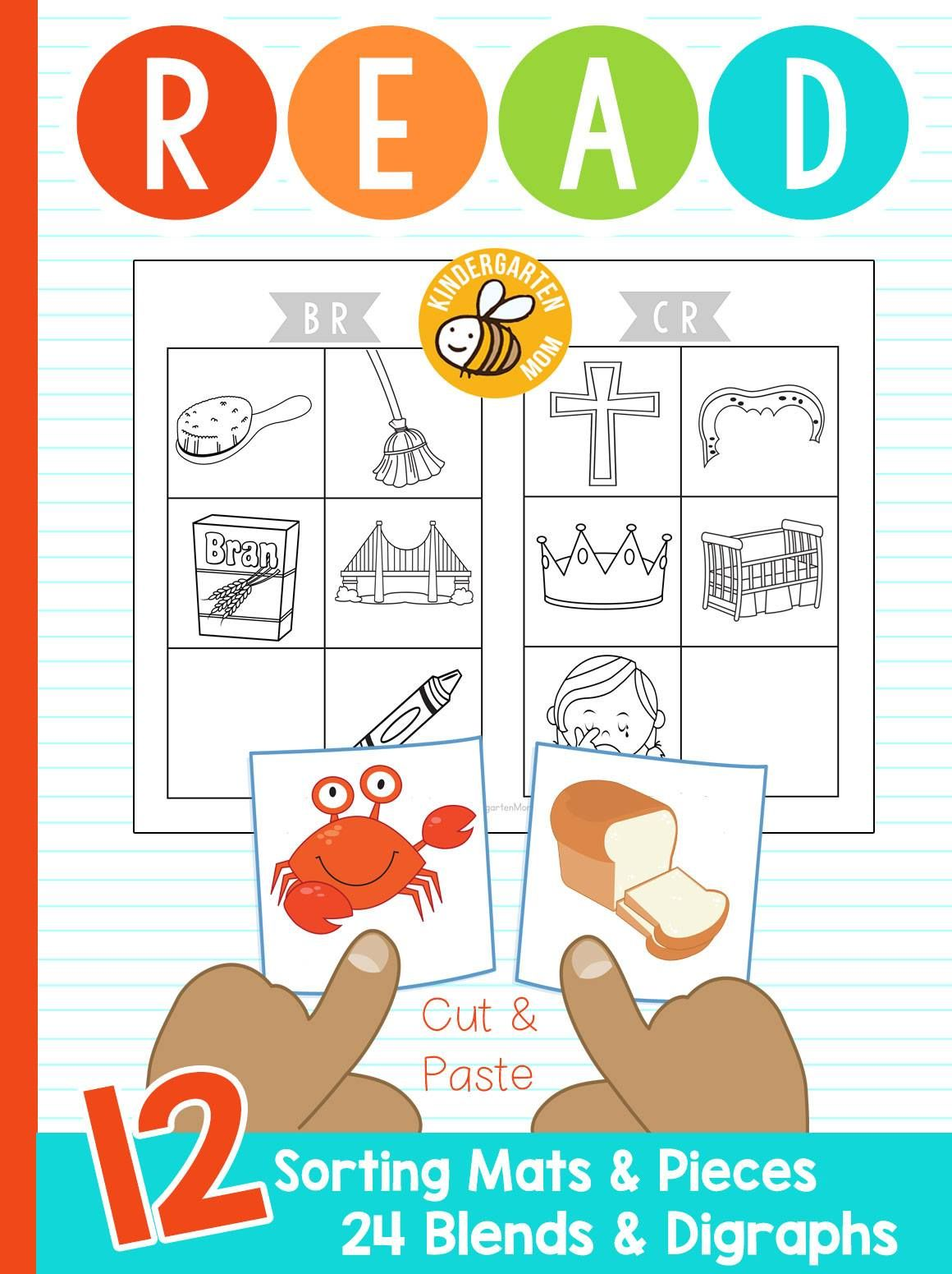 Learn To Read Blends And Digraphs Sorting Mats