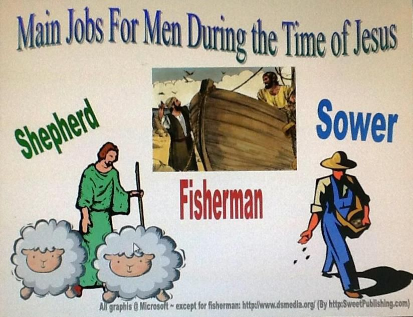 Jobs for Men poster (Parable of the Lost Sheep & the Lost